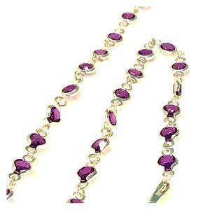 Jewelry - Purple jewel necklace